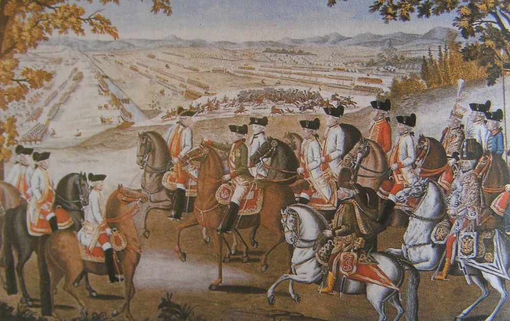 Joseph II and his soldiers in 1787