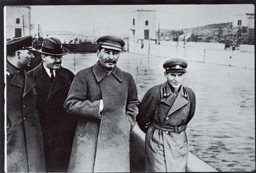 Yezhov walking with Stalin