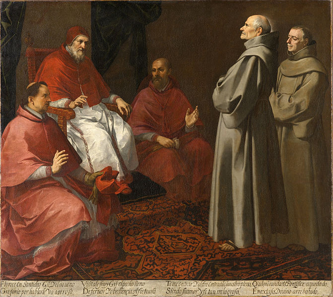 The blessed Giles before Pope Gregory IX