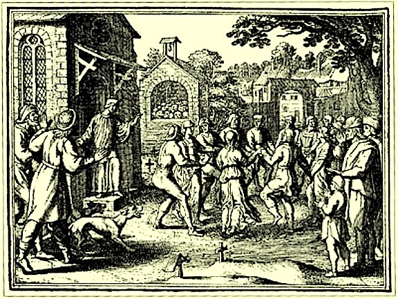 Engraving of European dancing mania