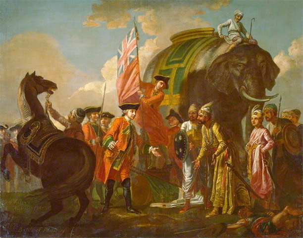 Lord Clive meeting with Mir Jafar, by Francis Hayman 1762