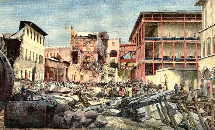 Palace after bombardment