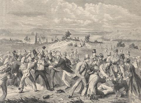 Attempted assassination of H.R.H. the Duke of Edinburgh at Clontarf, N.S.W. 1868, by Samuel Calvert