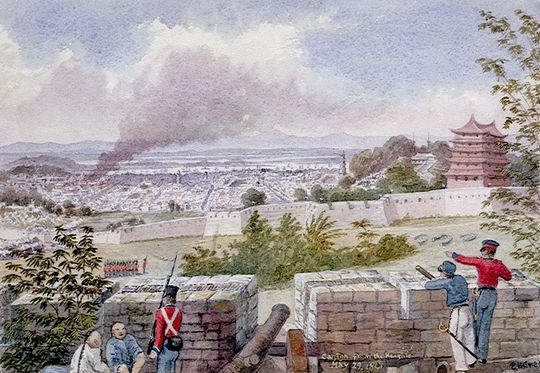 British bombardment of Canton 1841