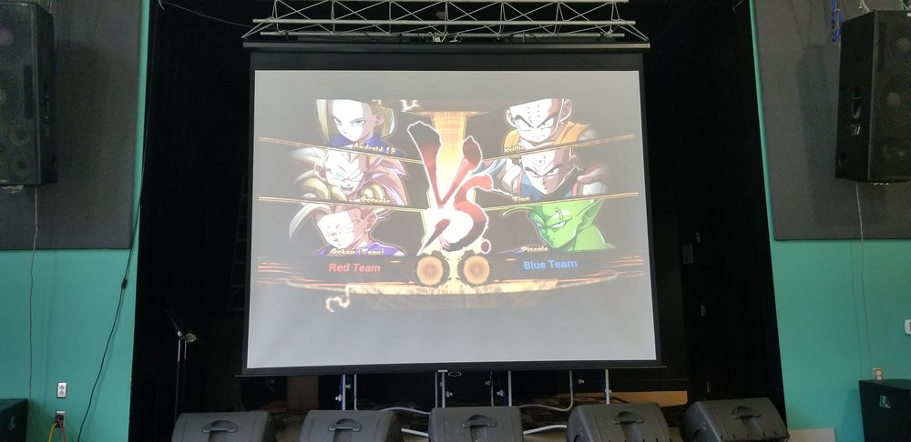 Compete in style! - We break out the Big Screen for Events and Fighter's Night.
