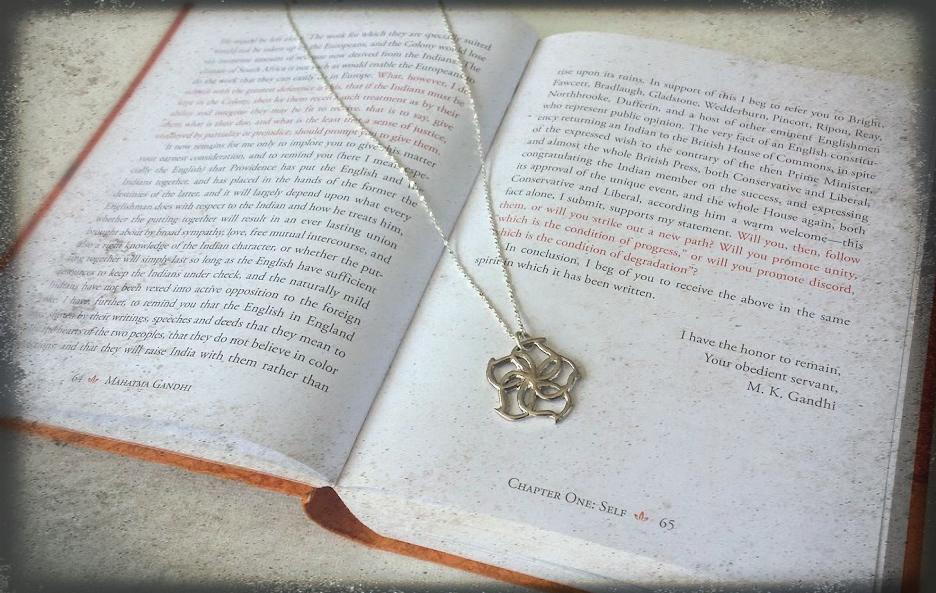 Moon Flower Pendant Necklace