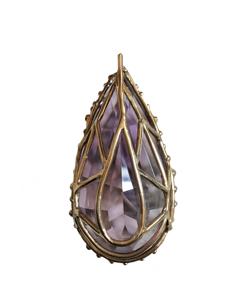 Back of amethyst pendant