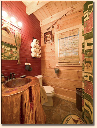 Tree House Bathroom white river treehouse