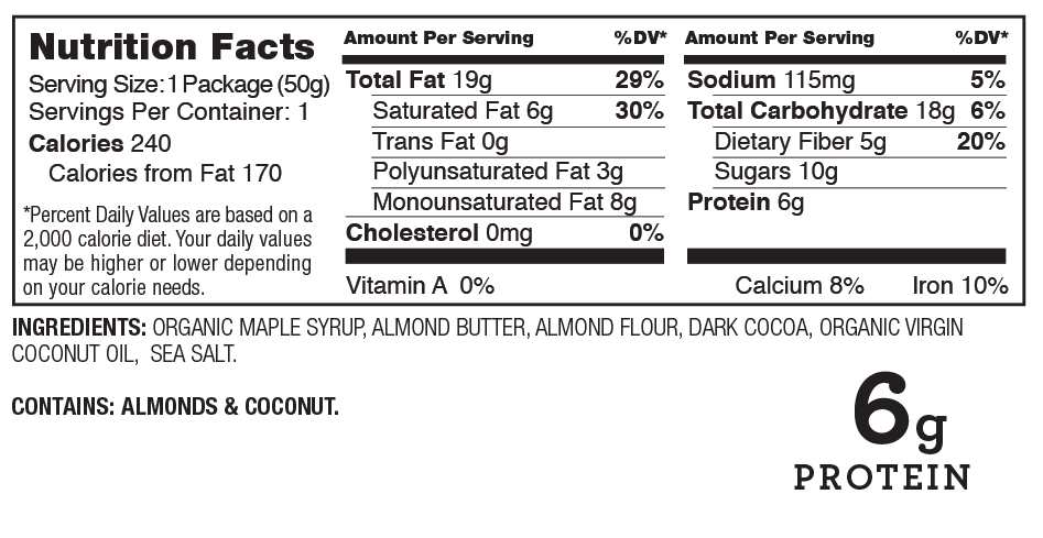Hail Merry Chocolate Almond Butter Cups Nutrition Facts