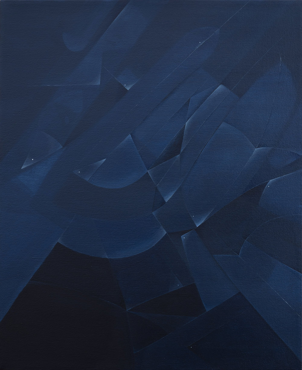 Blue Brooklime , 2018 Acrylic on canvas 22 x 18 inches