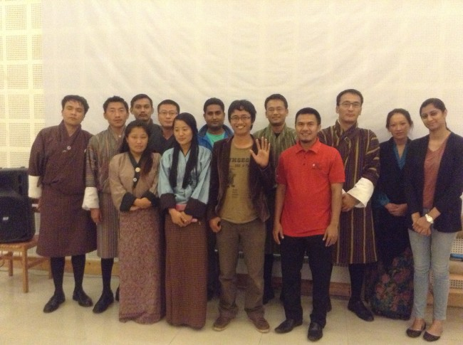 Foto bersama volunteer Tarayana Foundation di Timphu