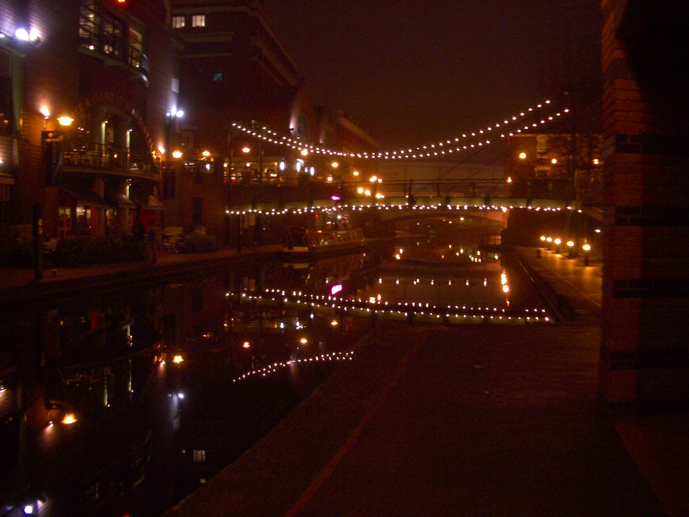 Birmingham Canal at Night