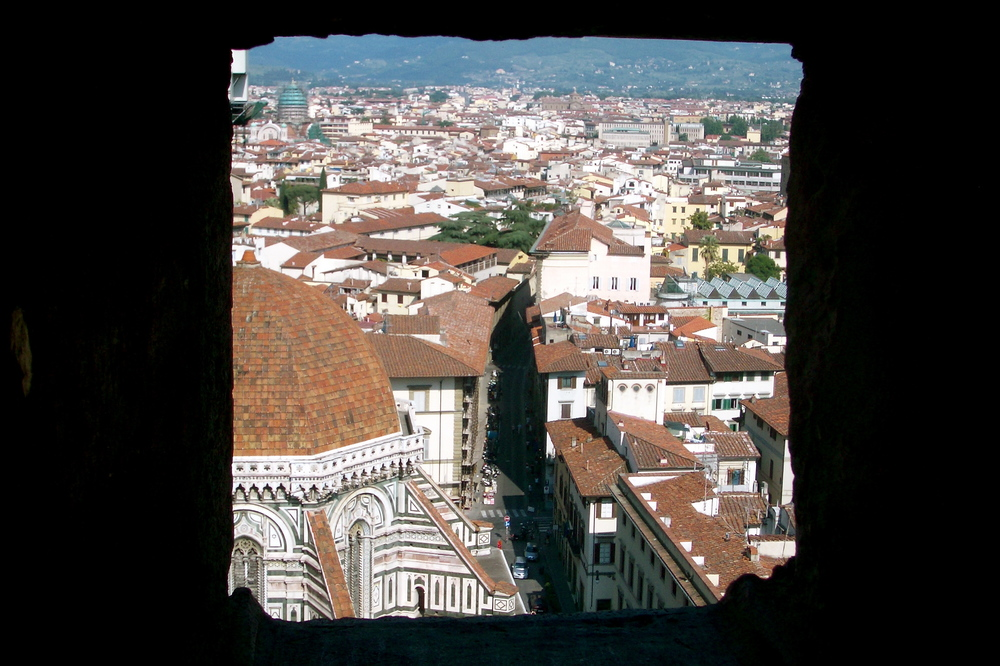 Street view of Florence from the Campanile
