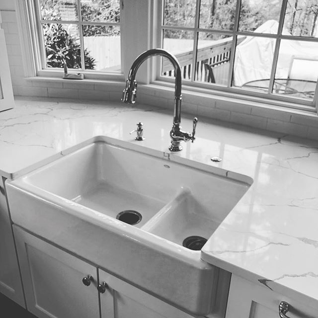 Beautiful new kitchen coming together! #plumbing #remodel #renovation #upgrade #kohler #stunning #weloveourjob
