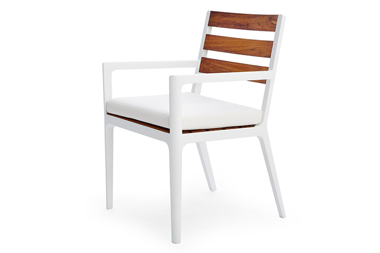 Flux Dining Arm Chair Contemporary Luxury Patio Furniture