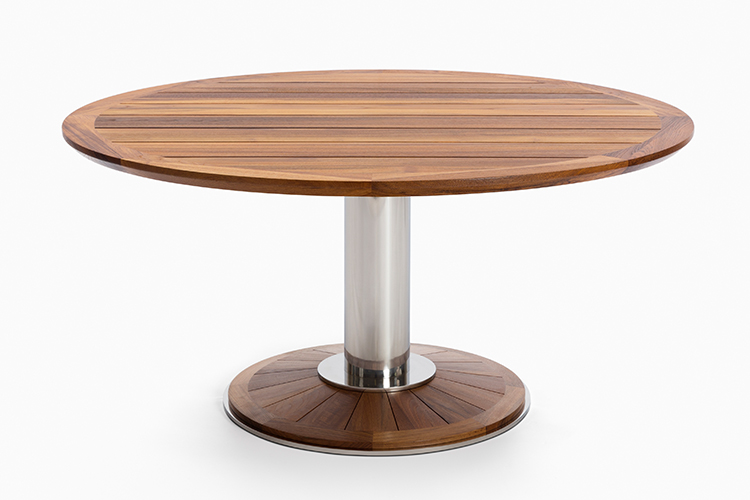 Whisper pedestal dining table modern luxury patio for Table 6 hours
