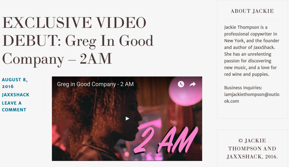 """Those of you who've been following JaxxShack since our launch in April will undoubtedly remember one of our very first spotlight artists,  Greg In Good Company . Today, we are thrilled to debut the official music video for ""2AM"" – another gem of a track off of their EP [ Get the EP here ]. Let us know what you think below!  By the way – as if this exciting news wasn't enough, Greg In Good Company will be releasing a new single, ""Monster's Lair,"" later this month. We're told that it was inspired by the original Netflix series ""Stranger Things,"" so you can expect that '80s sci-fi sound. We. Can't. Wait."""