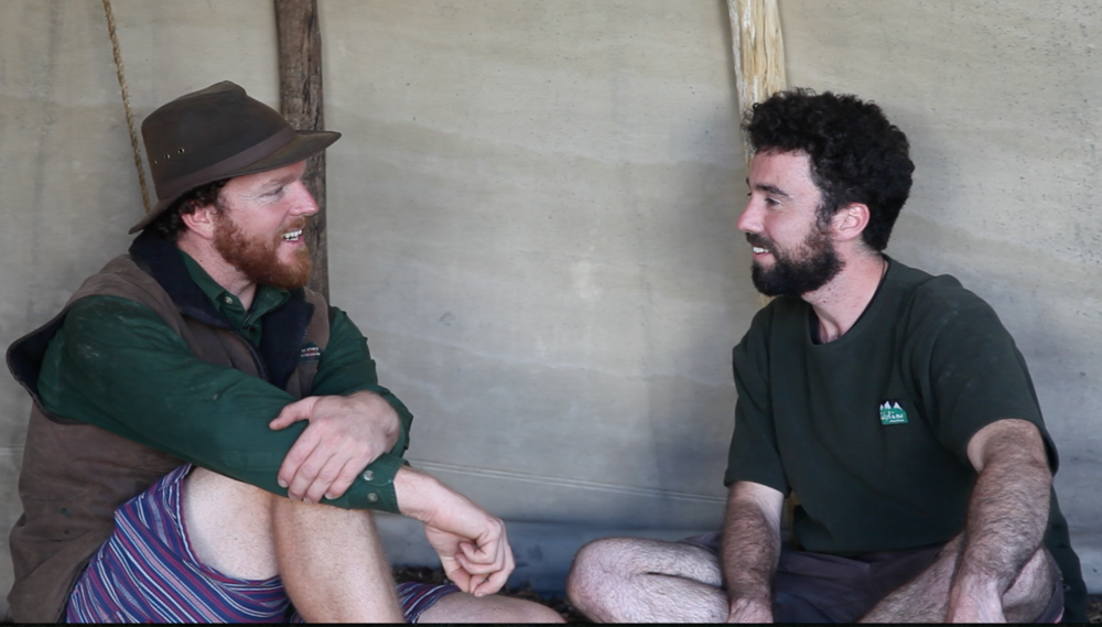 My interview with Leo Murray in his father's tepee where we also hosted the men's circle