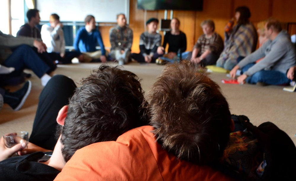 A circle at Mindfulness for Change hui 1.