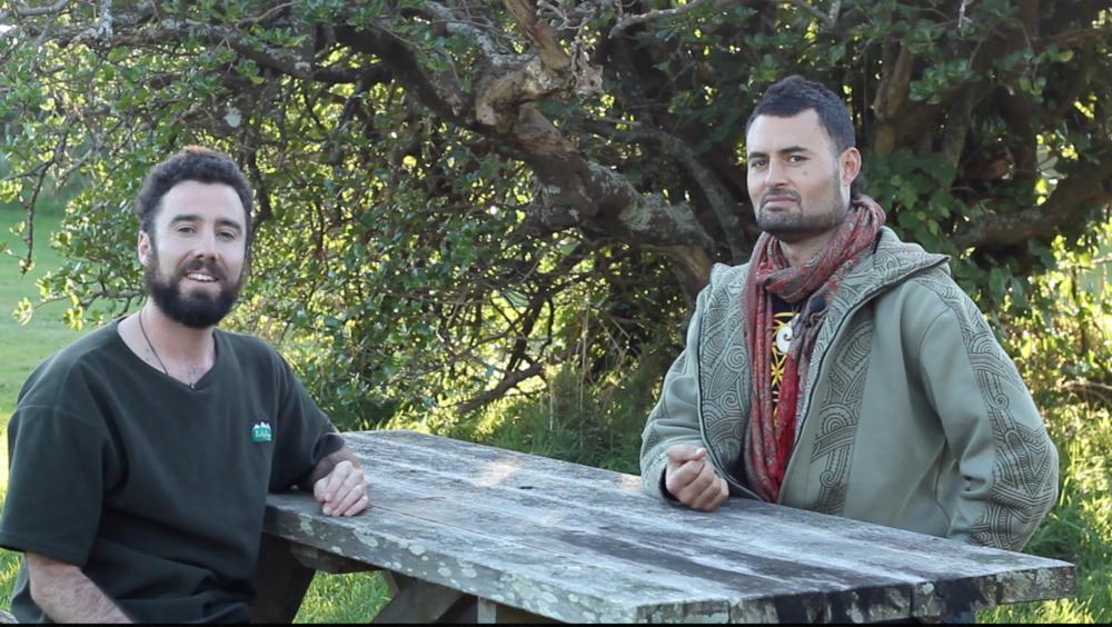 Interview with Matiu te Huki in Paekakariki near his whare.