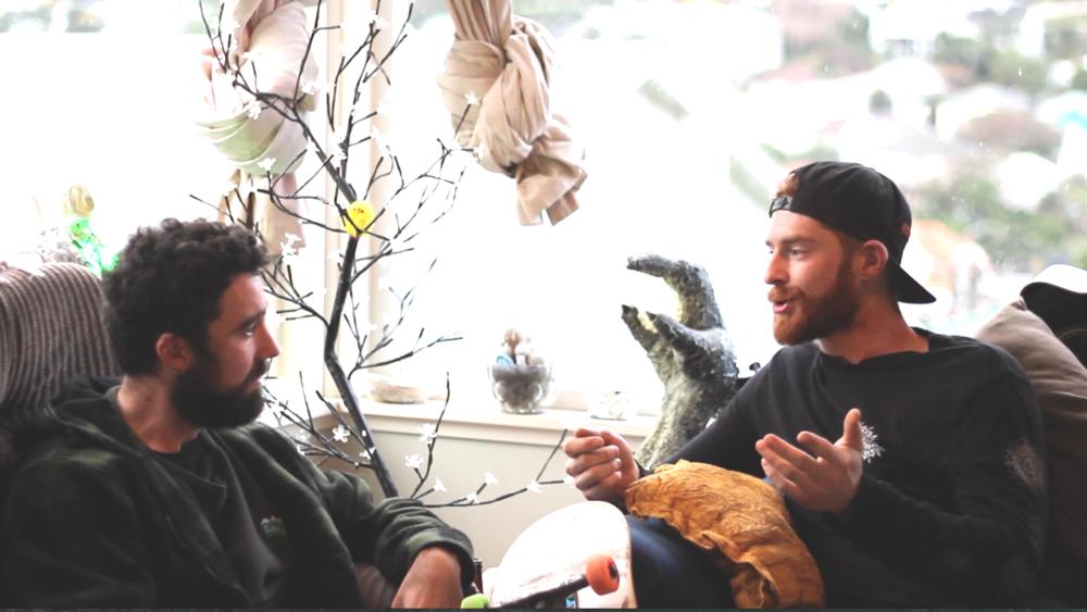 Interview with Devon Briggs in Island Bay, Wellington.