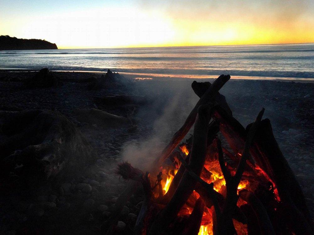 Christina's bonfire at Hunt's beach.