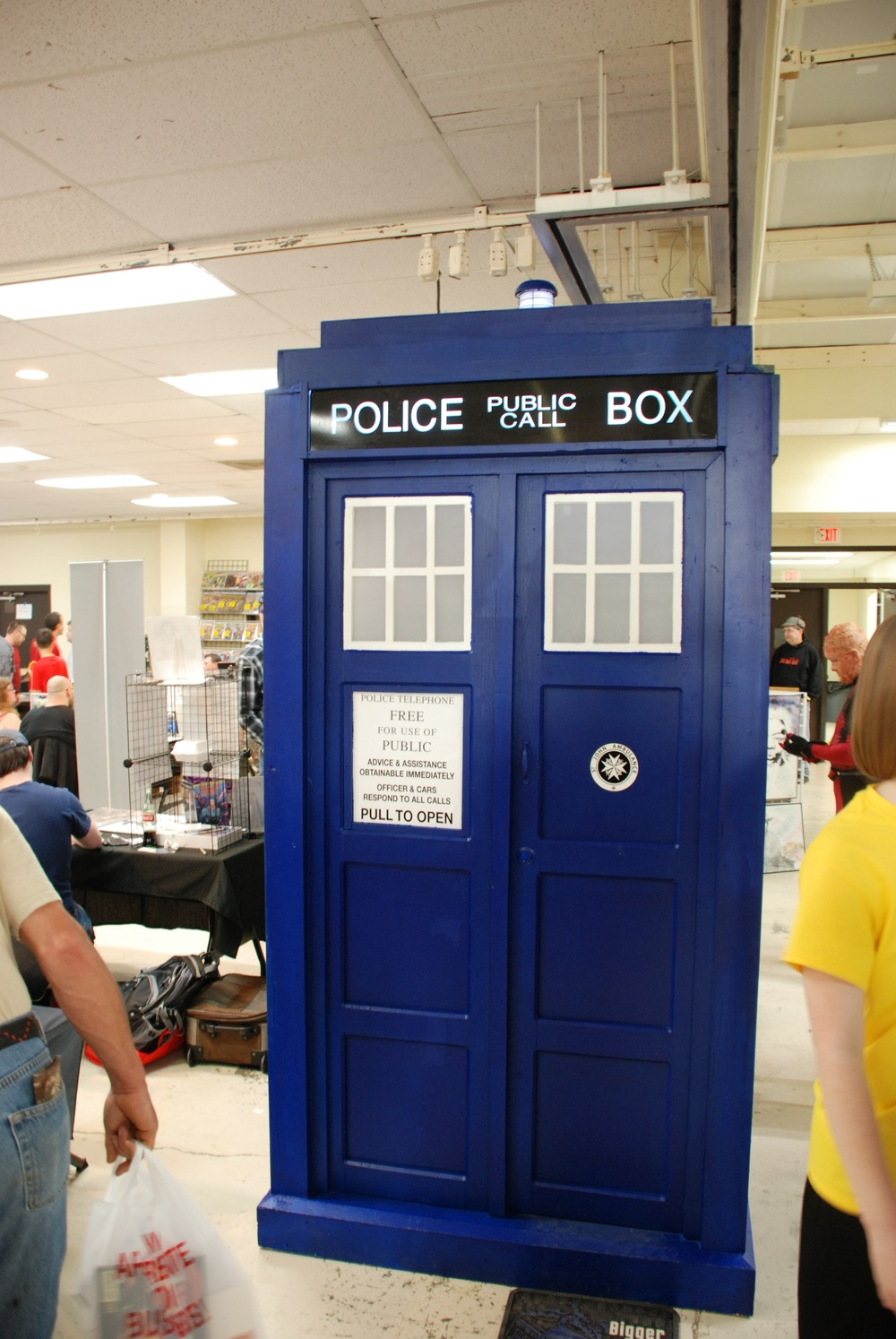 We found the TARDIS! Gues there may be some timey-wimey stuff going on...