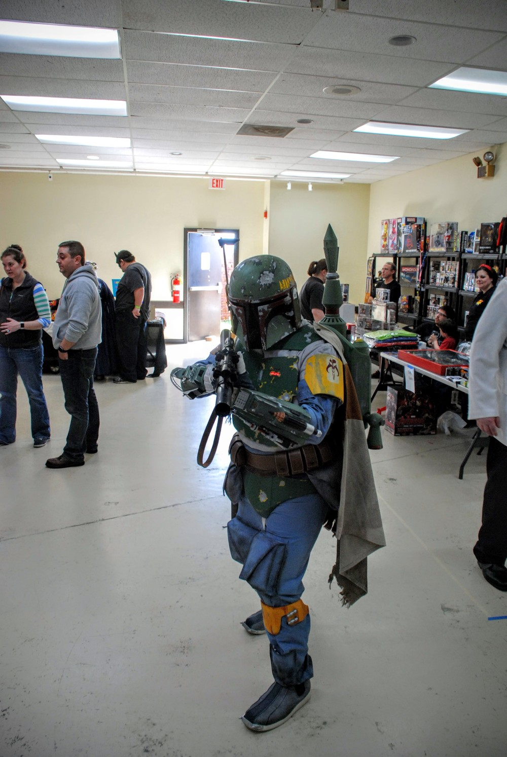 Boba Fett stopped us for some intel on a bounty he was looking for