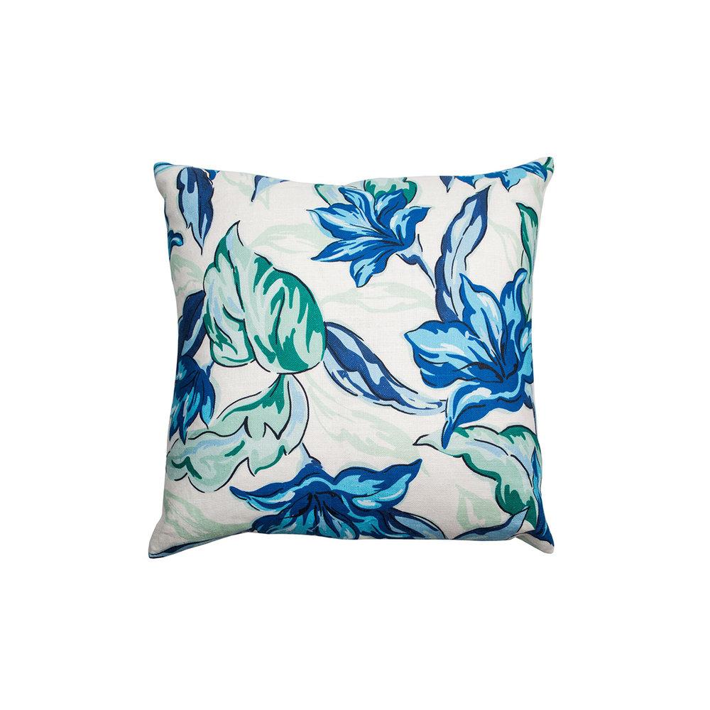 Palm Beach Style Pillows : Palm Beach Blooms Pillow, blue multi ? Jana Bek Design