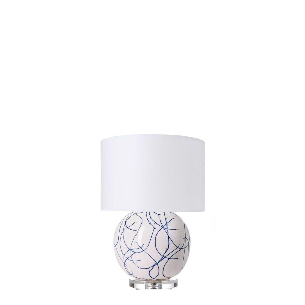 Mini Blue Scribble Lamp ...