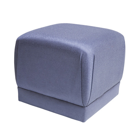 Custom Pouf In Metallic Blue.02.jpg