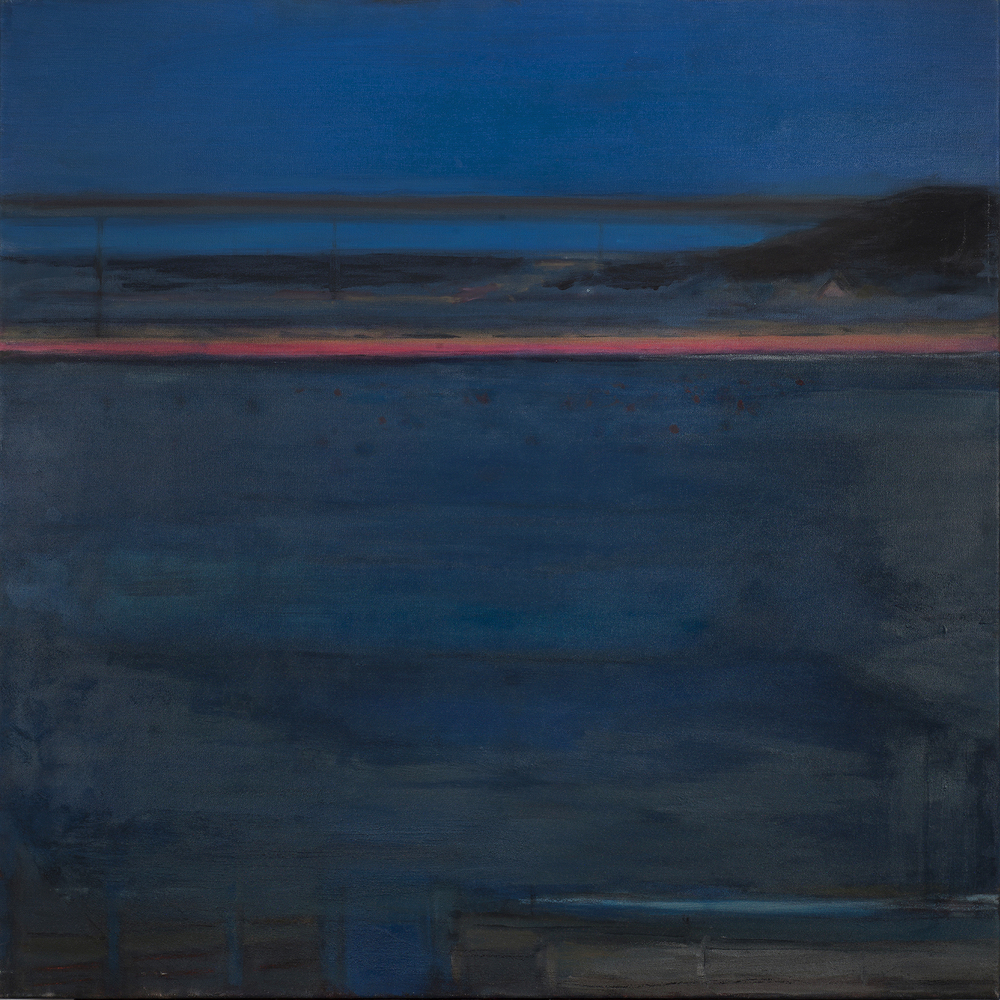 Blue Sound, 100 x 100 cm, oil on linen