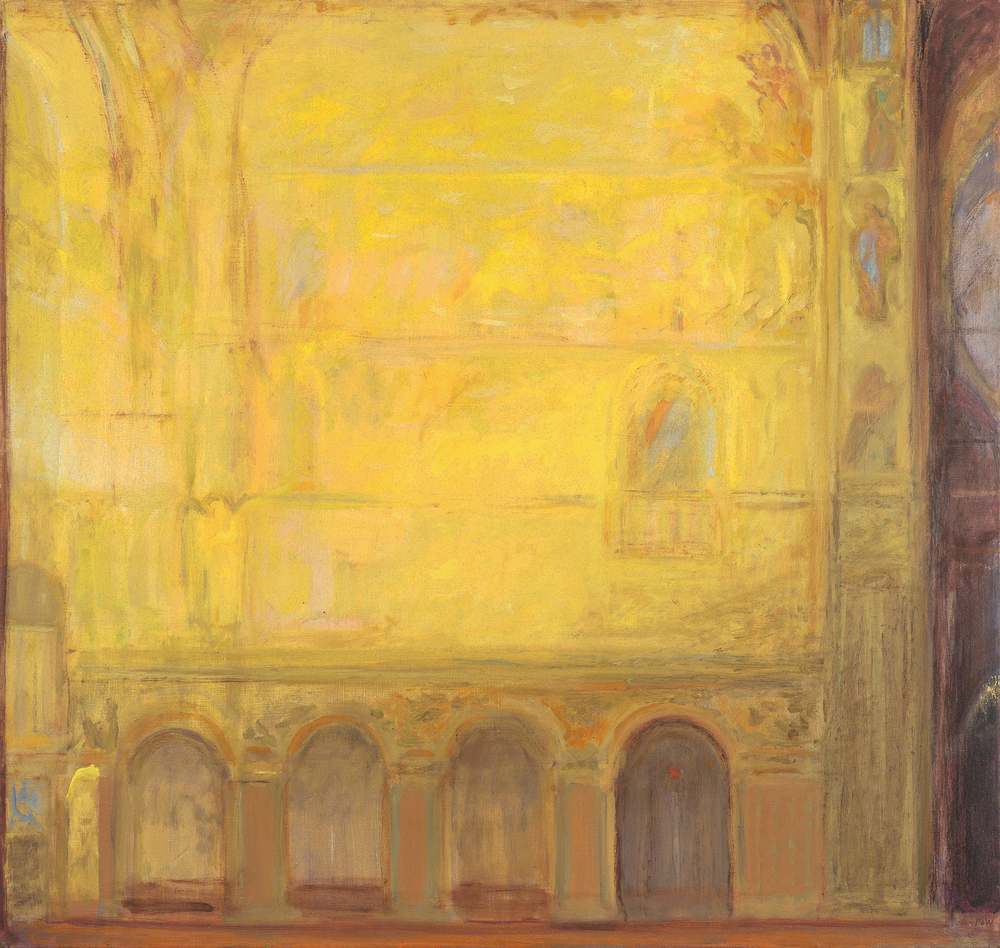 Venetian Gold, 92 x 98 cm, oil on linen