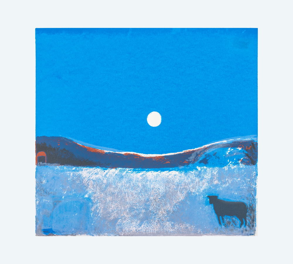 Sheep and Moon