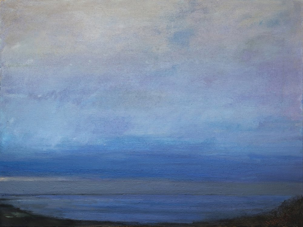 Edge of Dusk, 60 x 80 cm, 2017, oil on linen, 2017