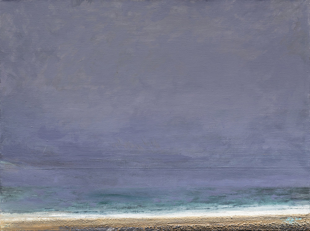Tempest, Chessil Beach, oil on linen, 60 x 80 cm, 2017