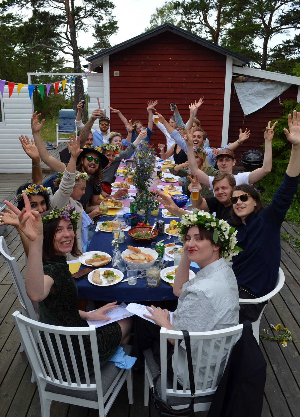 Midsummer lunch with friends!