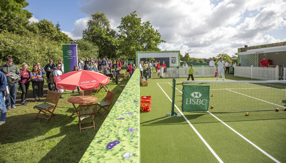 HSBC's Court 20, where you can play against a legend. Credit: HSBC