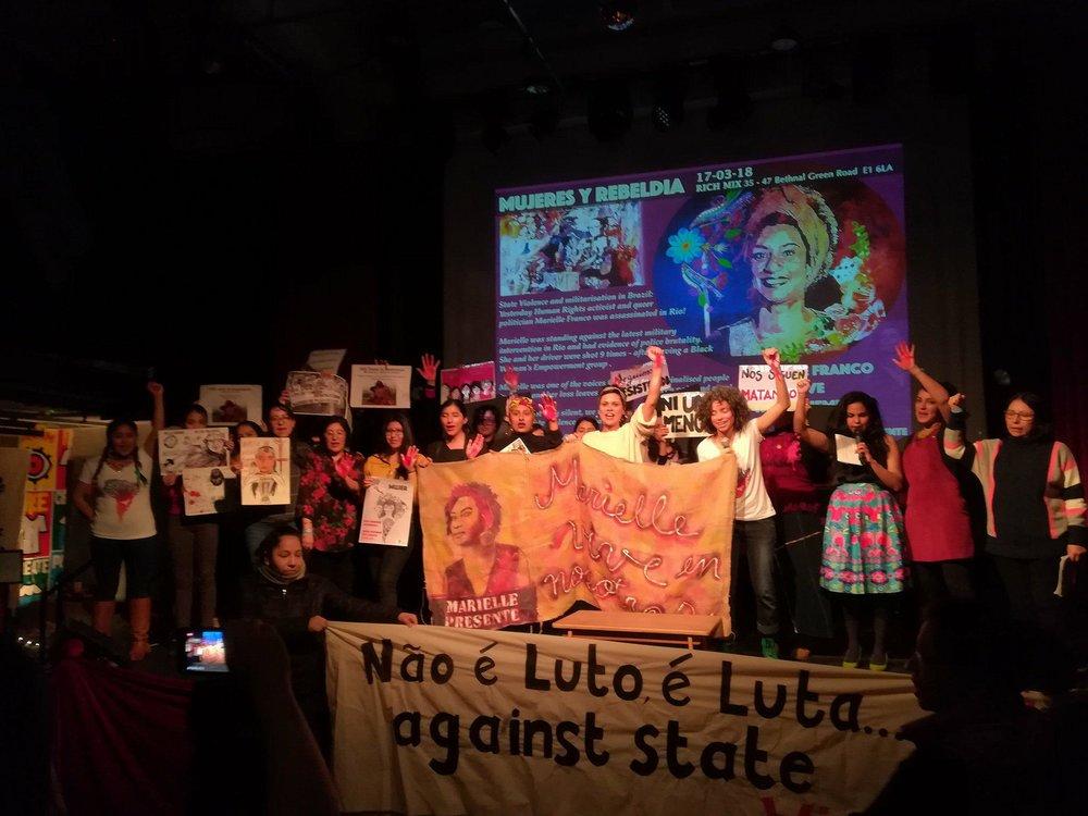 Acción en solidaridad con Marielle Franco, clamando por justicia estructural en Brasil