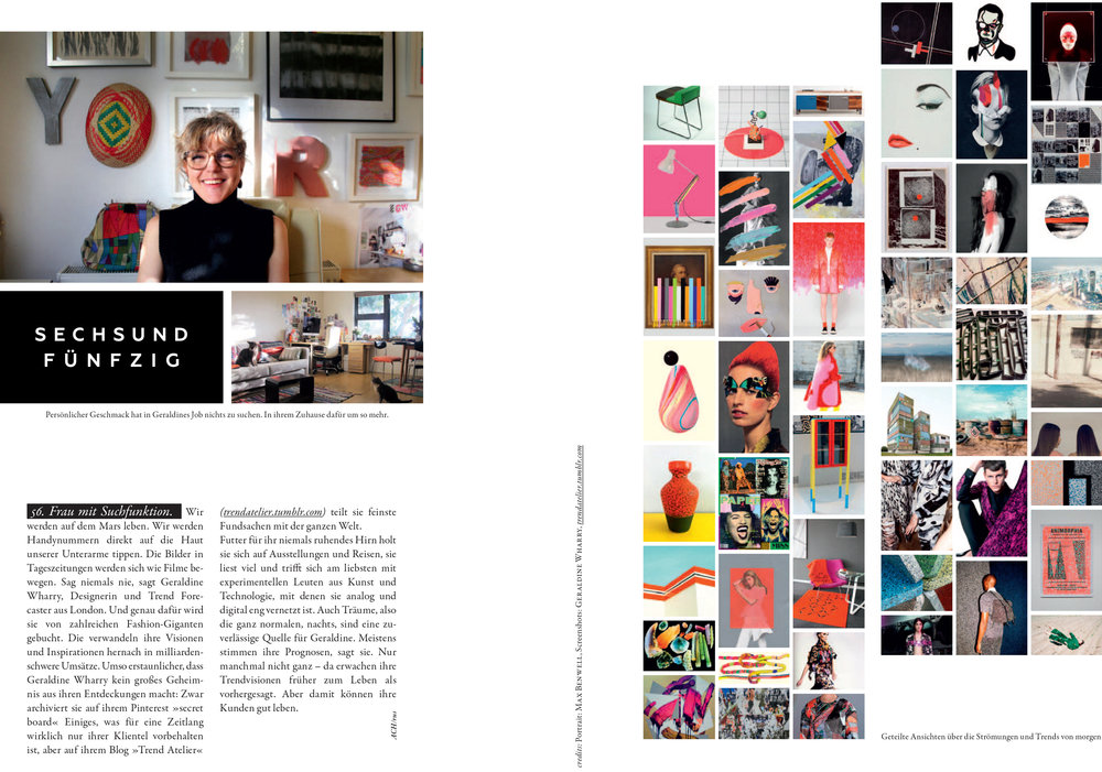 LOVED AND FOUND MAGAZINE - Interview about the Creative process of Trend forecasting - October 2014