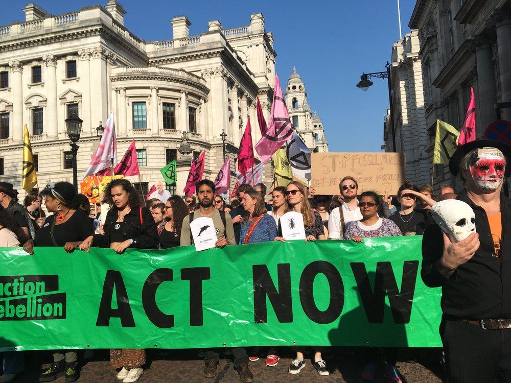 Extinction Rebellion Protests in London April 2019. Photo credit: Geraldine Wharry