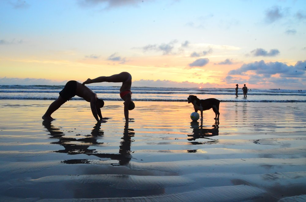 We'll go on a day trip to this amazing beach and take gorgeous yoga pics (like this one!) at sunset.