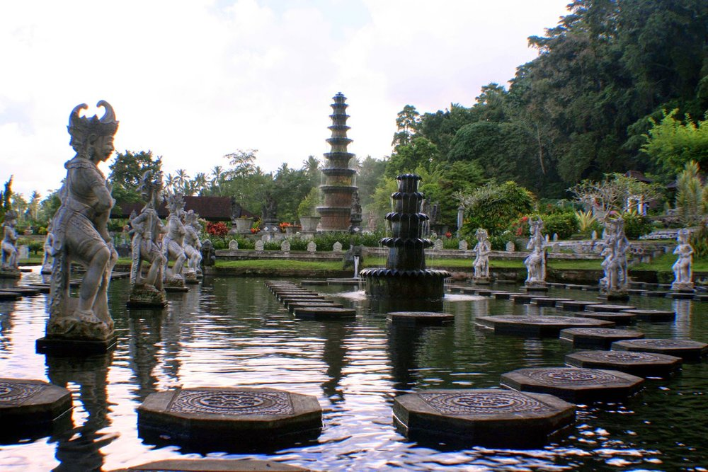 Tirta Gangga literally means water from the Ganges and it is a site of some reverence for the Hindu Balinese.