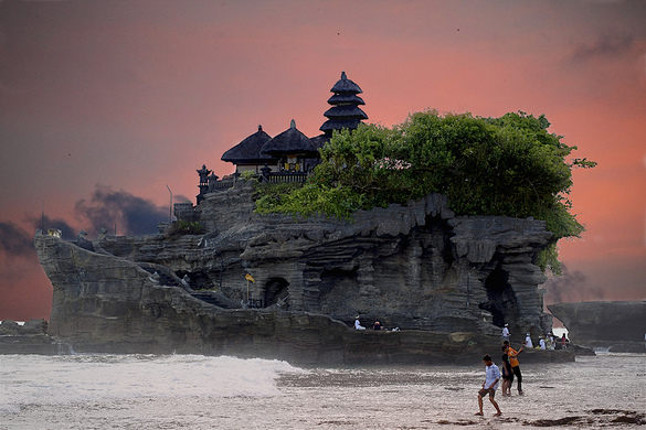 Tanah Lot is Bali's most venerated sea temple