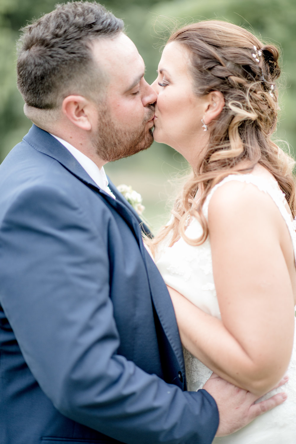 Chippenham Park, Cambridgeshire, Sophie & Samuel said their 'I do's' in the beautiful gardens of Chippenham Park.