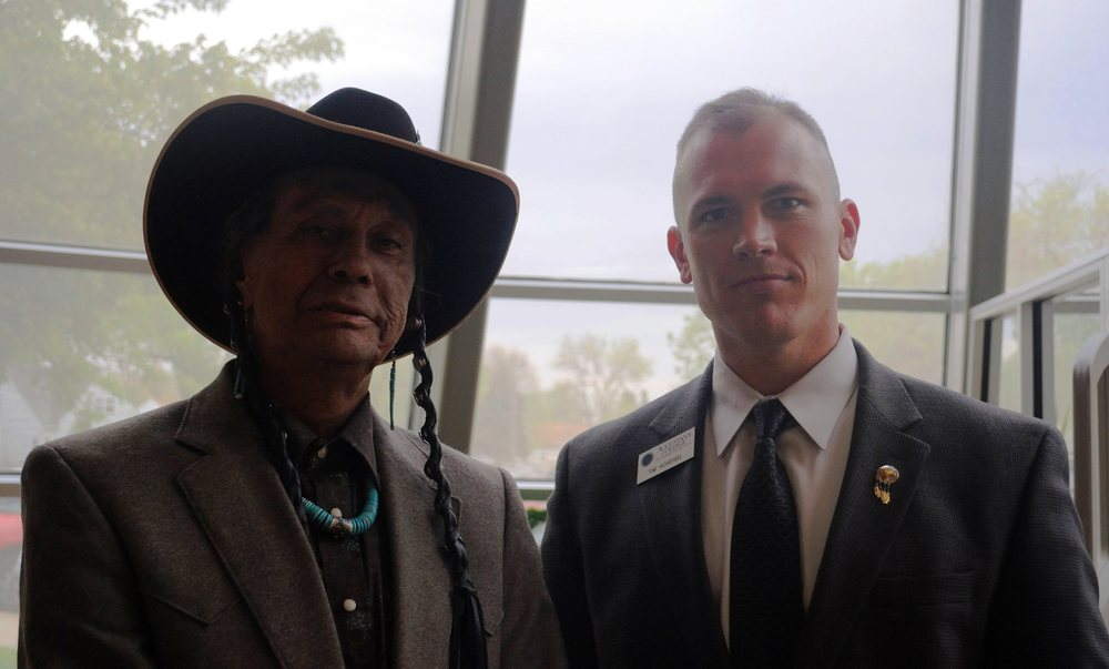 Russell Means and Tim Hoheisel
