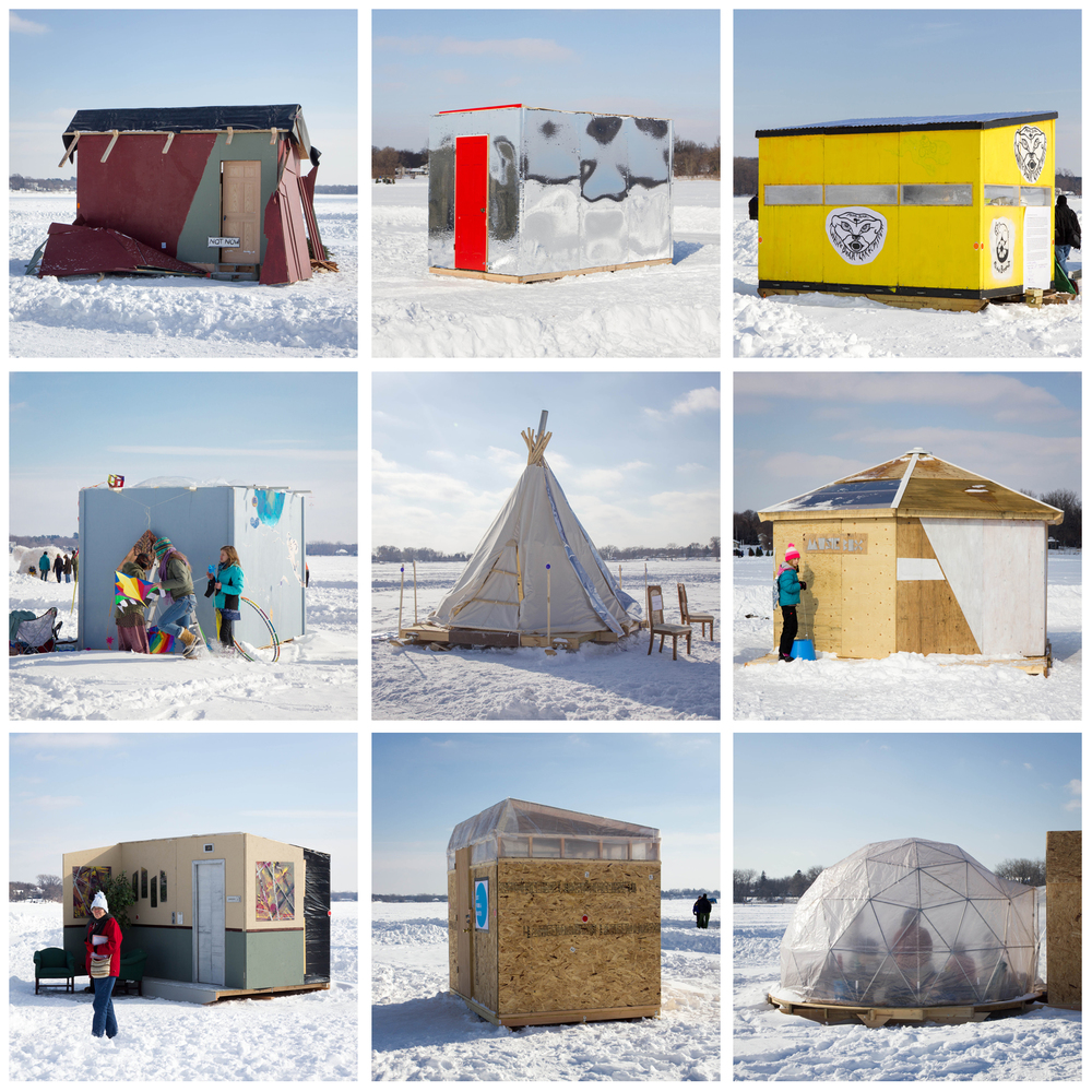 A sampling of some of the art shanties. The interiors are where a lot of the art is located, because winter.