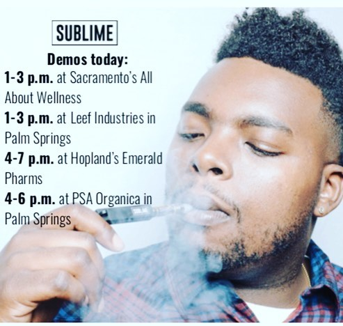 Fri-YAY demos at: @allabout_916 @leefindustries @emeraldpharms_ig @officialllpsaorganica  #sublimecanna #betterhits