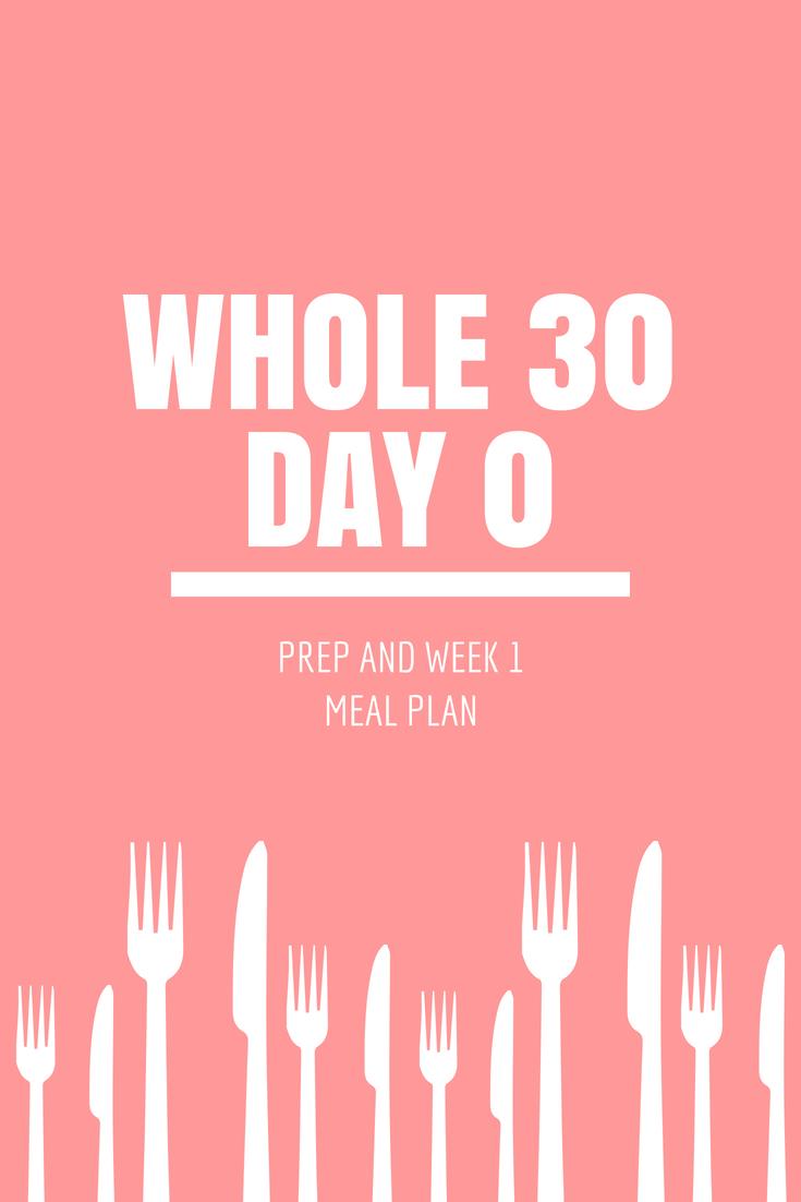Starting Whole 30 | Week 1 Meal Plan