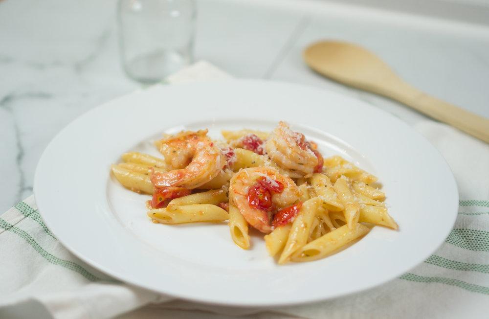 30 Minute Dinner | Garlic Shrimp Pasta